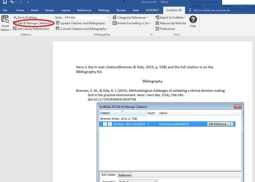 Editing Endnote citations in a Word document | MSK Library Blog