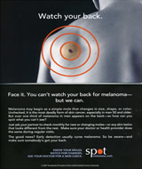 Fig 1. Campaign to improve recognition of back melanoma. Printed with permission.