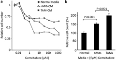 Fig 1. TAMs induce resistance to gemcitabine in human PDAC.