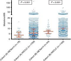 Fig. 1 Tumor mutational burden in MET exon 14-altered lung cancers.