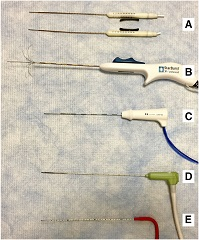 Fig. 2 Ablation devices commonly used.