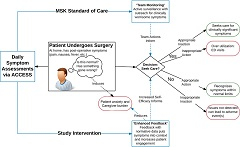 Fig 1. Study conceptual model. ACCESS, ambulatory cancer care electronic symptom self-reporting; ED, emergency department; MSK, Memorial Sloan Kettering Cancer Center.