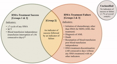 Figure 2. HMA-treatment Success OR failure status among patients with MDS.